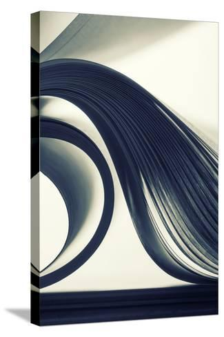 Macro View of Abstract Paper Curves-Nomad_Soul-Stretched Canvas Print