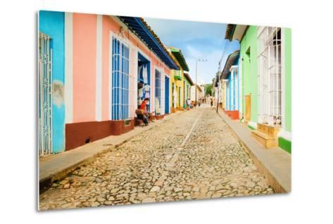 Colorful Traditional Houses in the Colonial Town of Trinidad in Cuba-Anna Jedynak-Metal Print