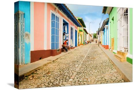 Colorful Traditional Houses in the Colonial Town of Trinidad in Cuba-Anna Jedynak-Stretched Canvas Print