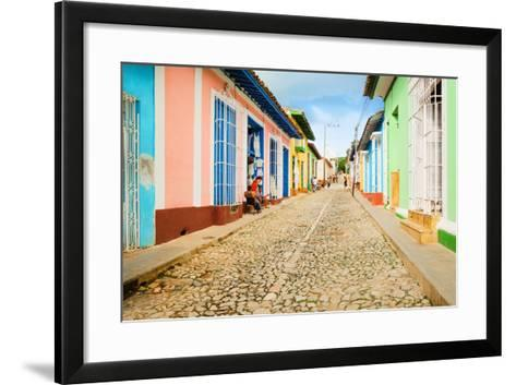 Colorful Traditional Houses in the Colonial Town of Trinidad in Cuba-Anna Jedynak-Framed Art Print