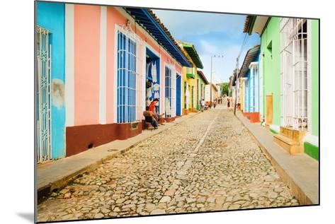 Colorful Traditional Houses in the Colonial Town of Trinidad in Cuba-Anna Jedynak-Mounted Photographic Print