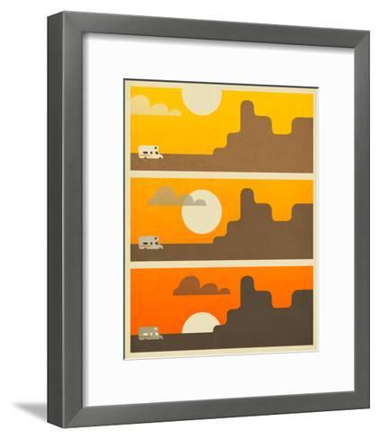 RV Sunset-Jazzberry Blue-Framed Art Print
