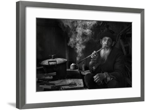 Man And Pipe 1-Moises Levy-Framed Art Print