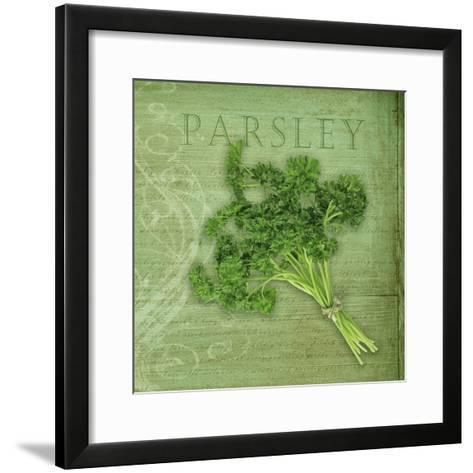 Classic Herbs Parsley-Cora Niele-Framed Art Print