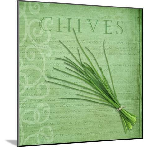 Classic Herbs Chives-Cora Niele-Mounted Photographic Print