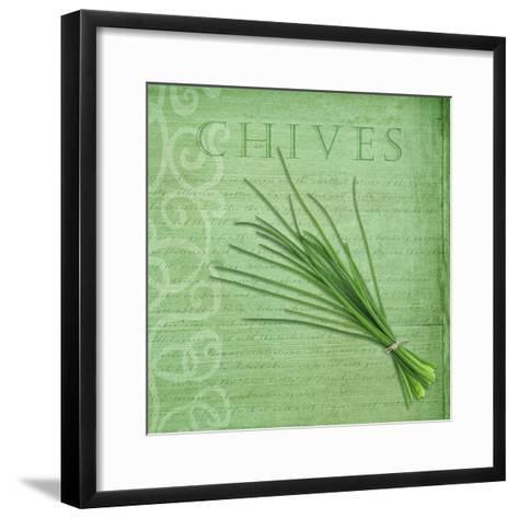 Classic Herbs Chives-Cora Niele-Framed Art Print