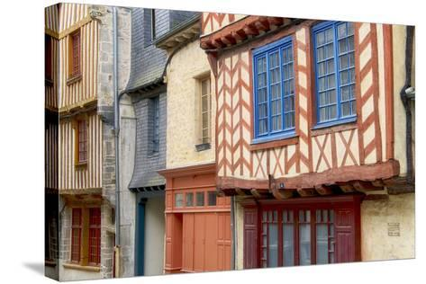 Historic Houses Of Vitre?-Cora Niele-Stretched Canvas Print