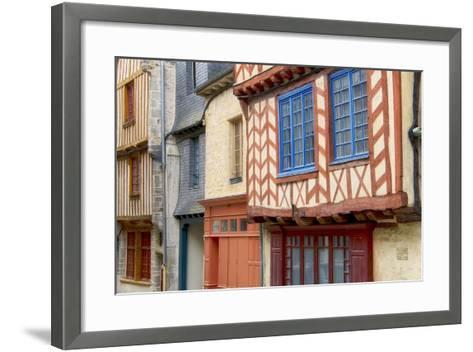 Historic Houses Of Vitre?-Cora Niele-Framed Art Print