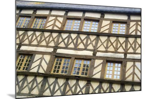 Timber Framed Building Moncontour-Cora Niele-Mounted Photographic Print