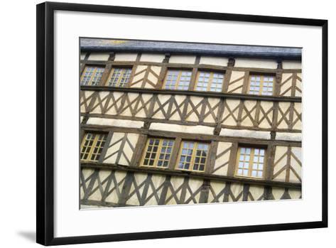 Timber Framed Building Moncontour-Cora Niele-Framed Art Print