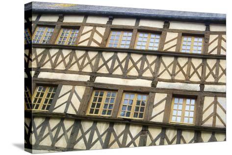 Timber Framed Building Moncontour-Cora Niele-Stretched Canvas Print