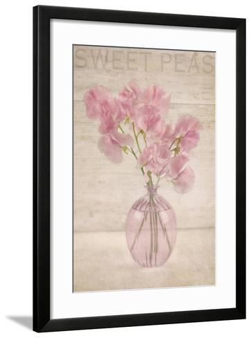 Pink Sweet Peas-Cora Niele-Framed Art Print