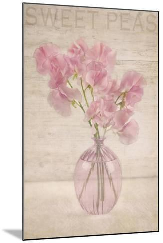 Pink Sweet Peas-Cora Niele-Mounted Photographic Print
