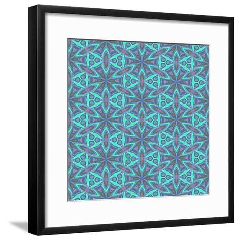 Stained Glass Pattern-Cora Niele-Framed Art Print