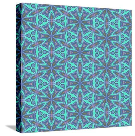 Stained Glass Pattern-Cora Niele-Stretched Canvas Print