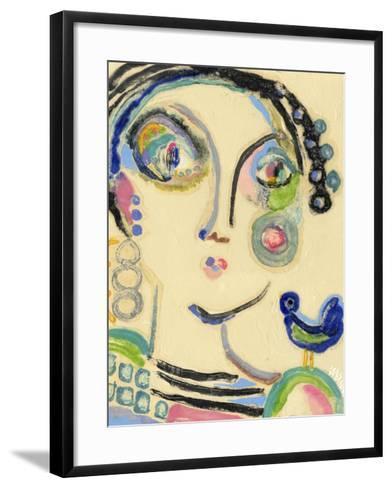 Bluebird on My Shoulder-Wyanne-Framed Art Print