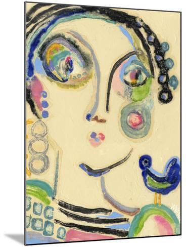 Bluebird on My Shoulder-Wyanne-Mounted Giclee Print