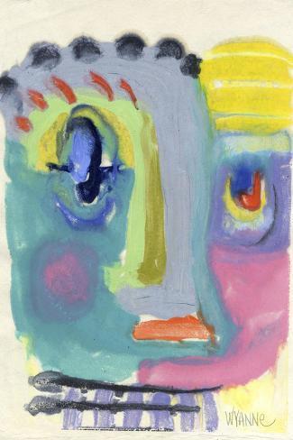 Blah Blah Blah-Wyanne-Stretched Canvas Print