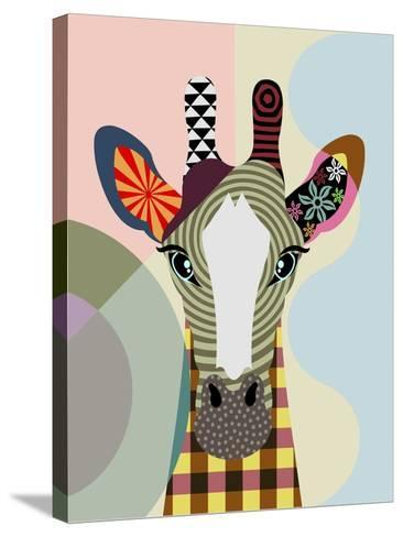 Stand Tall Giraffe-Lanre Adefioye-Stretched Canvas Print