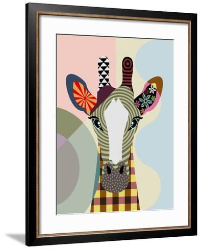 Stand Tall Giraffe-Lanre Adefioye-Framed Art Print