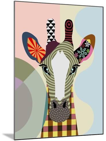 Stand Tall Giraffe-Lanre Adefioye-Mounted Giclee Print