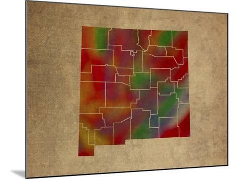NM Colorful Counties-Red Atlas Designs-Mounted Giclee Print