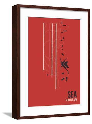SEA Airport Layout-08 Left-Framed Art Print