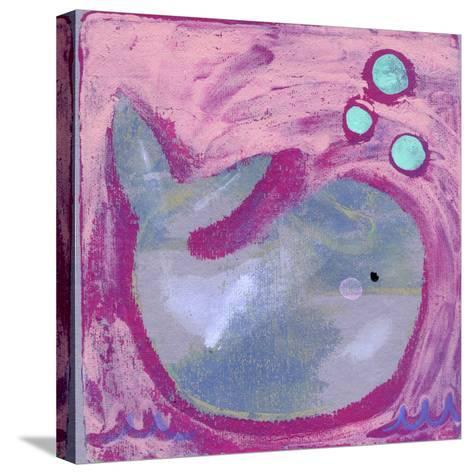 Silly Whale-Wyanne-Stretched Canvas Print