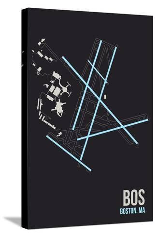 BOS Airport Layout-08 Left-Stretched Canvas Print