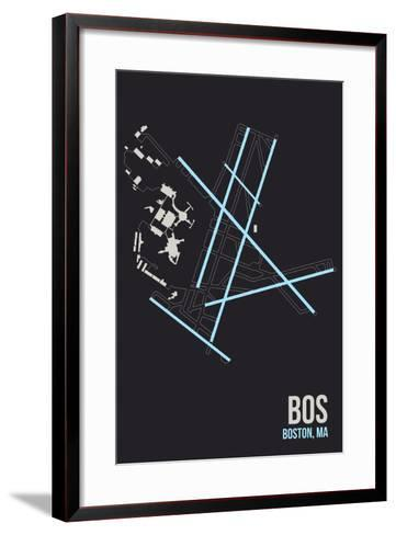 BOS Airport Layout-08 Left-Framed Art Print