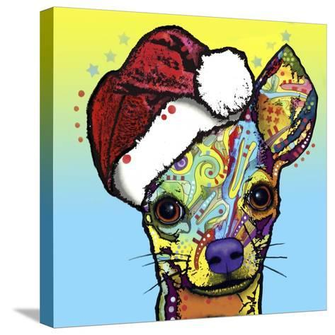 Chihuahua Christmas-Dean Russo-Stretched Canvas Print