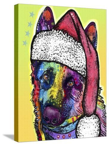 German Shepherd Christmas-Dean Russo-Stretched Canvas Print