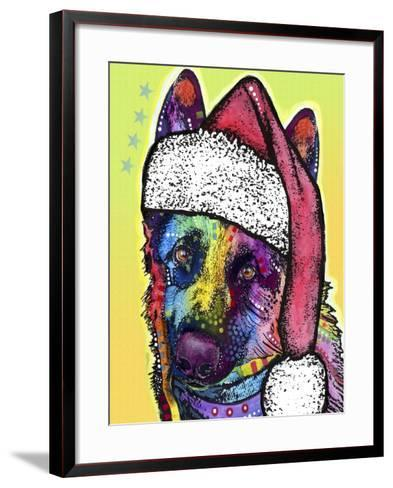 German Shepherd Christmas-Dean Russo-Framed Art Print