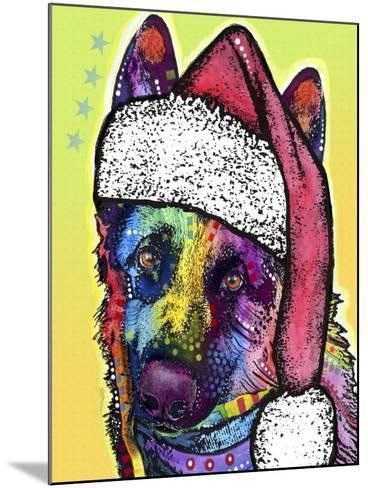 German Shepherd Christmas-Dean Russo-Mounted Giclee Print