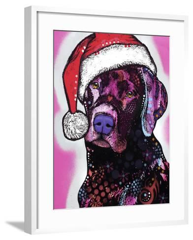 Black Lab Christmas-Dean Russo-Framed Art Print