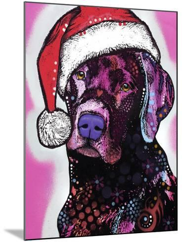 Black Lab Christmas-Dean Russo-Mounted Giclee Print