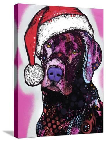 Black Lab Christmas-Dean Russo-Stretched Canvas Print