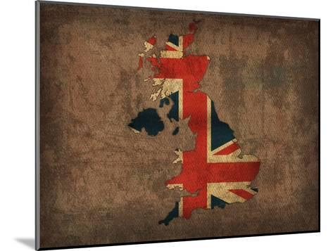 United Kingdom Country Flag Map-Red Atlas Designs-Mounted Giclee Print