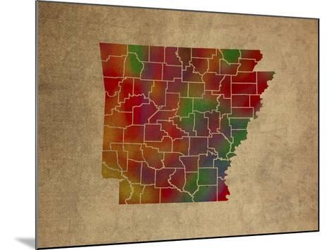AR Colorful Counties-Red Atlas Designs-Mounted Giclee Print