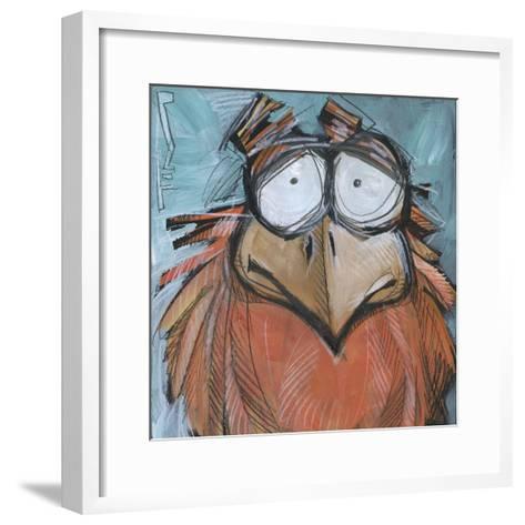 Square Bird 08a-Tim Nyberg-Framed Art Print