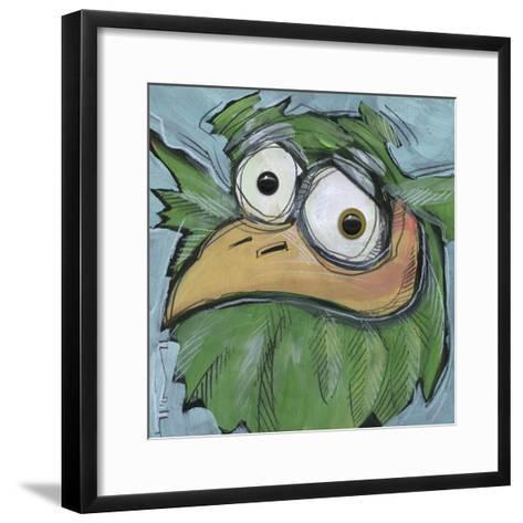 Square Bird 06b-Tim Nyberg-Framed Art Print
