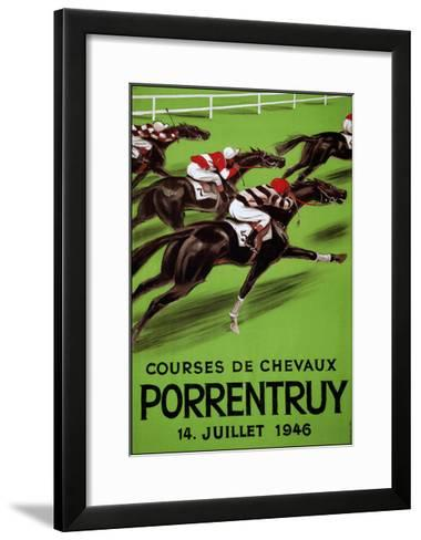 Laubi Hugo Courses Chevaux Porrentruy Year 1946-Vintage Lavoie-Framed Art Print