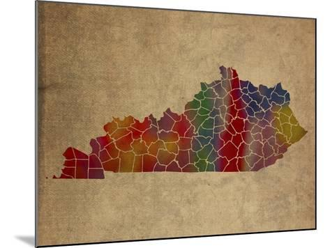 KY Colorful Counties-Red Atlas Designs-Mounted Giclee Print