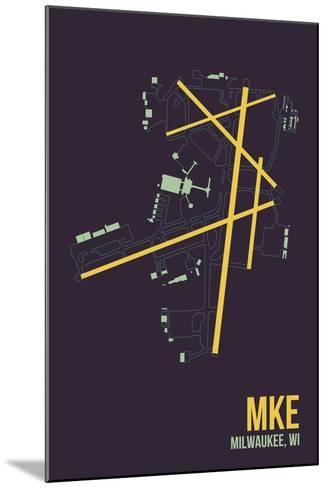 MKE Airport Layout-08 Left-Mounted Giclee Print