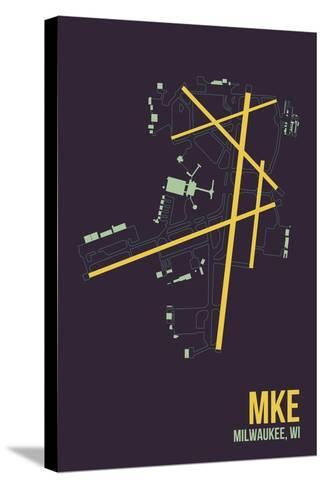 MKE Airport Layout-08 Left-Stretched Canvas Print