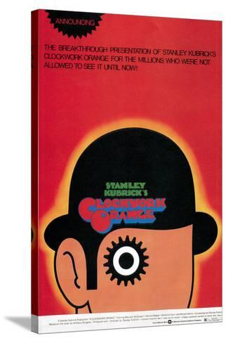 A Clockwork Orange, Poster, 1971--Stretched Canvas Print