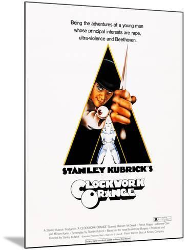 A Clockwork Orange, Malcolm Mcdowell, 1971--Mounted Poster