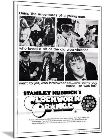 A Clockwork Orange, Malcolm Mcdowell, 1971--Mounted Poster