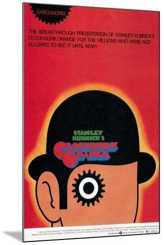 A Clockwork Orange, Poster, 1971--Mounted Poster