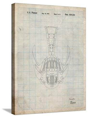 PP39 Antique Grid Parchment-Borders Cole-Stretched Canvas Print
